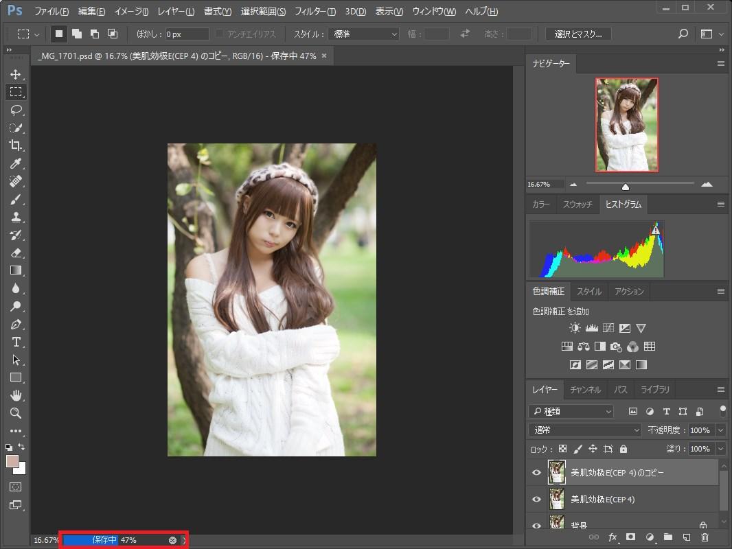 Photoshop_保存中